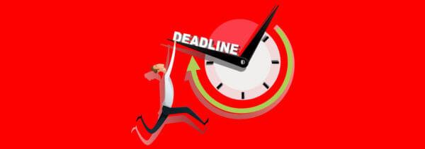 5 tips voor het behalen van deadlines