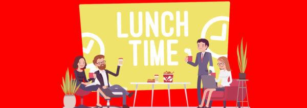 De etiquette van de zakelijke lunch